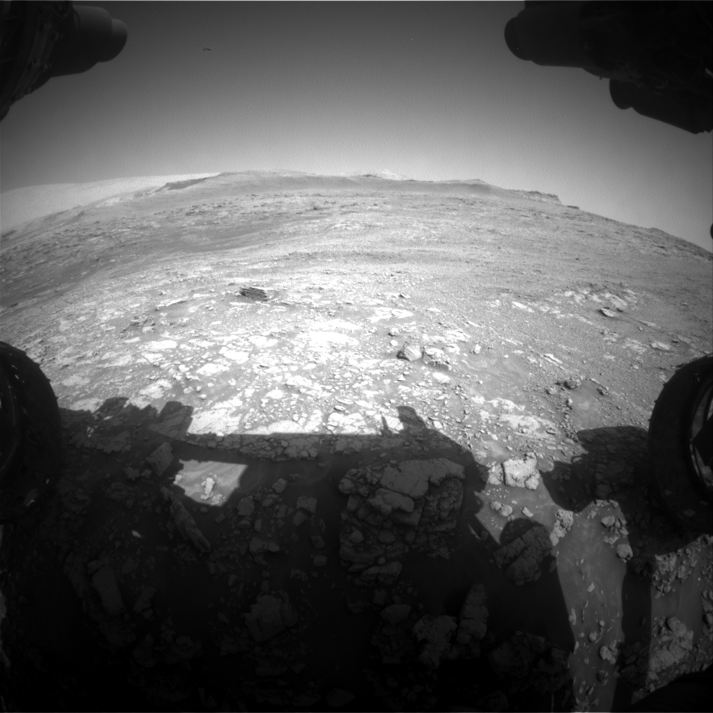 Nasa's Mars rover Curiosity acquired this image using its Front Hazard Avoidance Camera (Front Hazcam) on Sol 2479, at drive 2810, site number 76