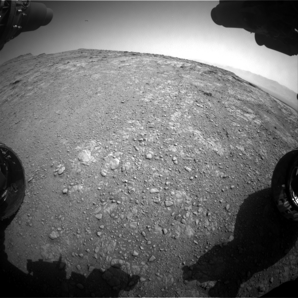 Nasa's Mars rover Curiosity acquired this image using its Front Hazard Avoidance Camera (Front Hazcam) on Sol 2480, at drive 2930, site number 76
