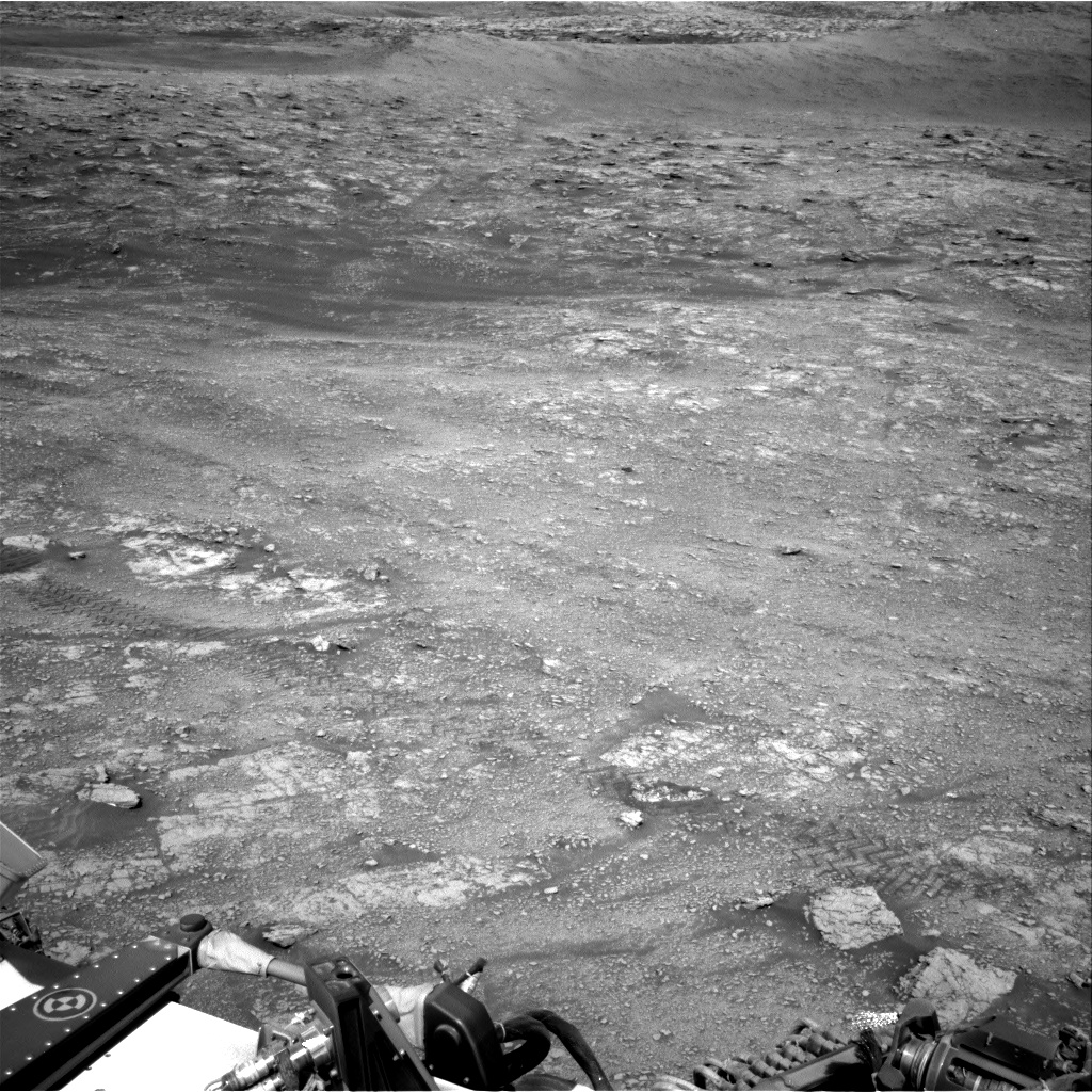 Nasa's Mars rover Curiosity acquired this image using its Right Navigation Camera on Sol 2481, at drive 3002, site number 76