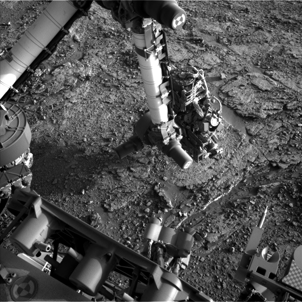 Nasa's Mars rover Curiosity acquired this image using its Left Navigation Camera on Sol 2482, at drive 3002, site number 76