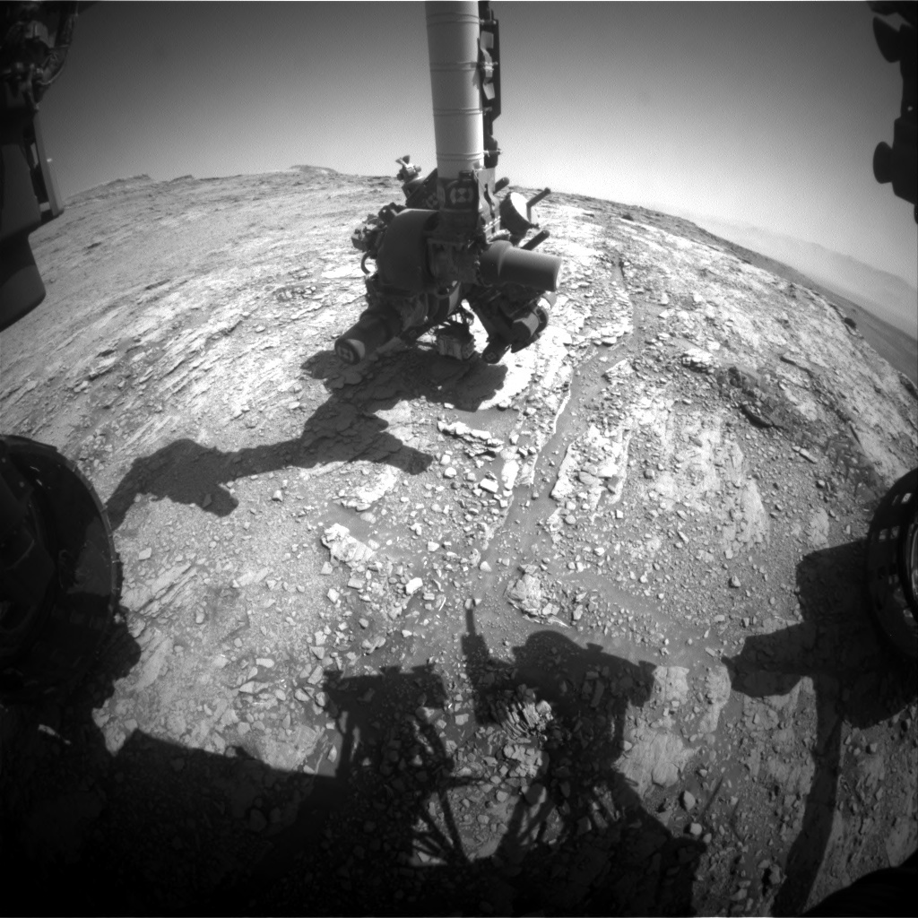 NASA's Mars rover Curiosity acquired this image using its Front Hazard Avoidance Cameras (Front Hazcams) on Sol 2483