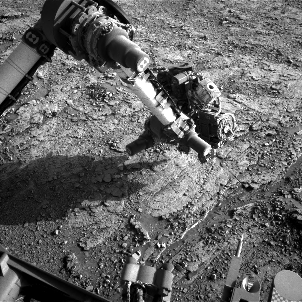Nasa's Mars rover Curiosity acquired this image using its Left Navigation Camera on Sol 2483, at drive 3002, site number 76
