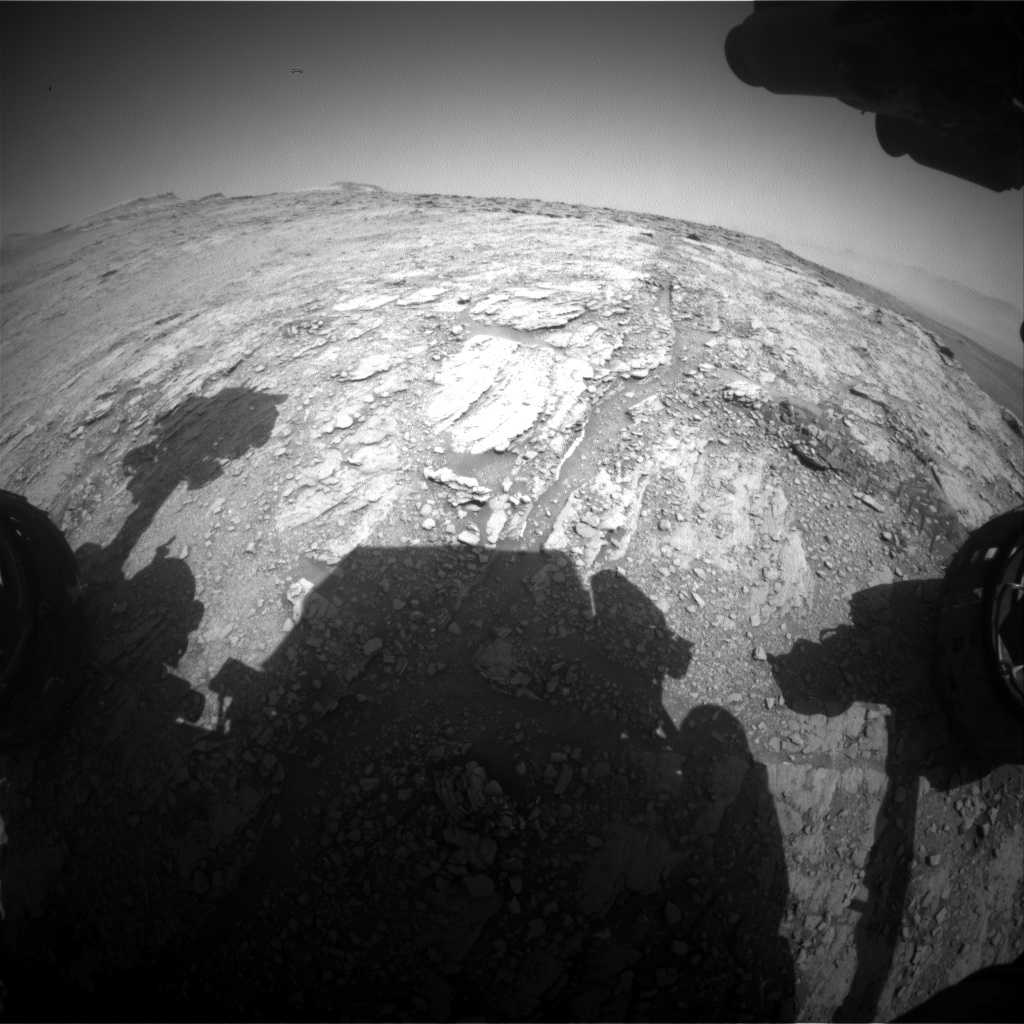 Nasa's Mars rover Curiosity acquired this image using its Front Hazard Avoidance Camera (Front Hazcam) on Sol 2484, at drive 3002, site number 76