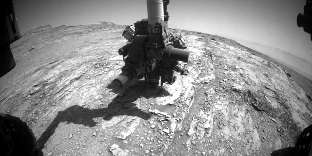 Nasa's Mars rover Curiosity acquired this image using its Front Hazard Avoidance Camera (Front Hazcam) on Sol 2486, at drive 3002, site number 76