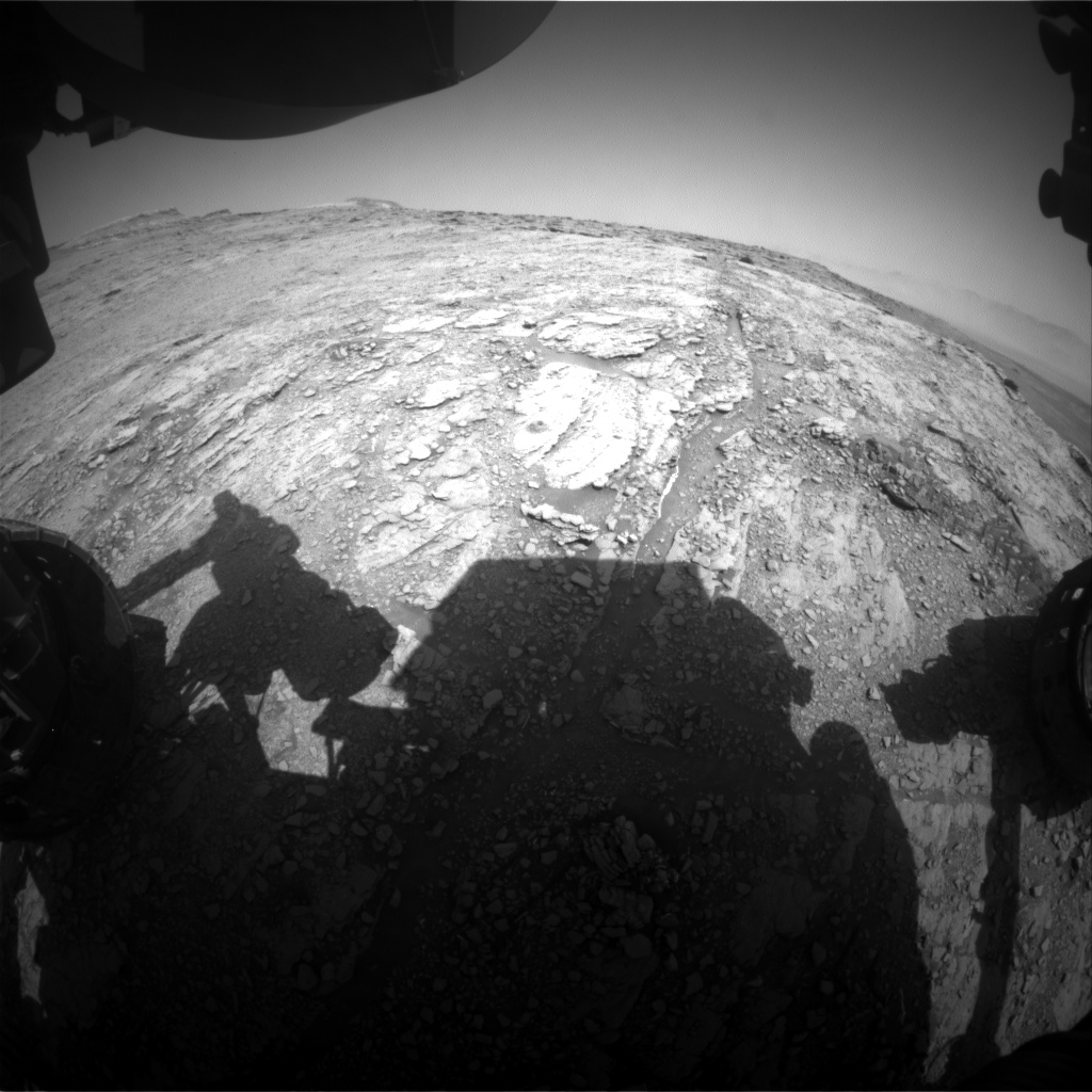 Nasa's Mars rover Curiosity acquired this image using its Front Hazard Avoidance Camera (Front Hazcam) on Sol 2487, at drive 3002, site number 76