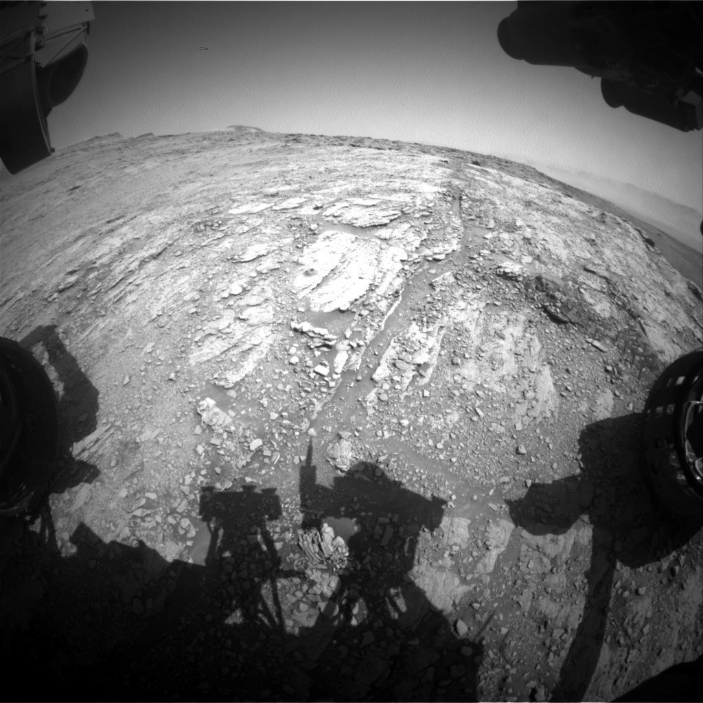 Nasa's Mars rover Curiosity acquired this image using its Front Hazard Avoidance Camera (Front Hazcam) on Sol 2488, at drive 3002, site number 76