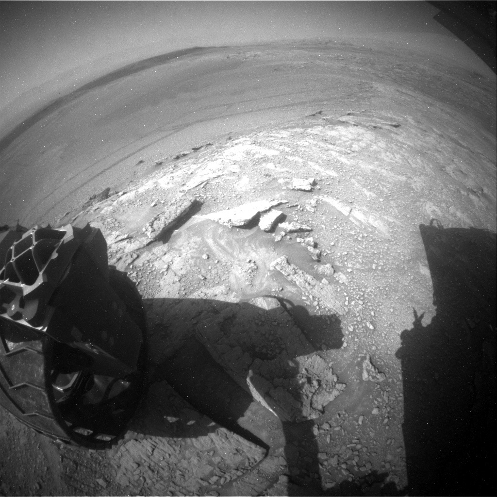 NASA's Mars rover Curiosity acquired this image using its Rear Hazard Avoidance Cameras (Rear Hazcams) on Sol 2489