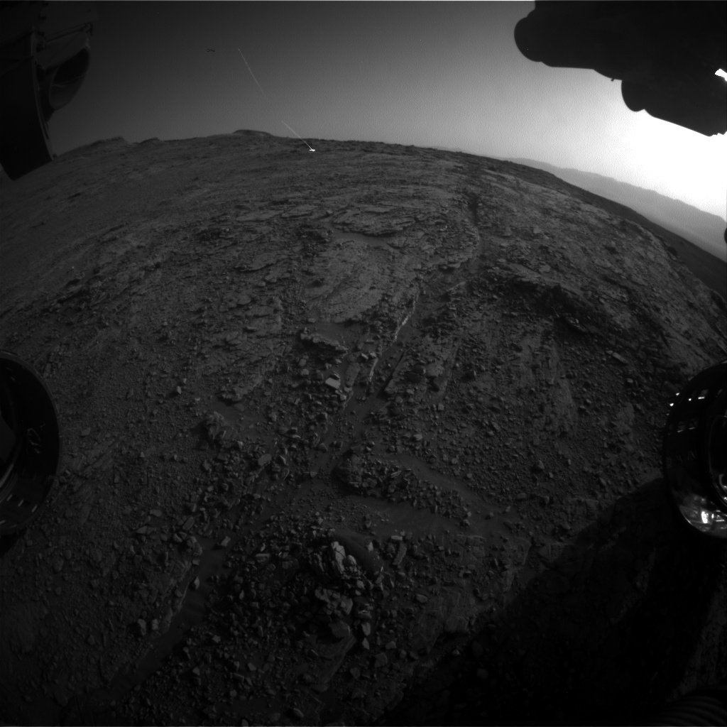 Nasa's Mars rover Curiosity acquired this image using its Front Hazard Avoidance Camera (Front Hazcam) on Sol 2492, at drive 3002, site number 76