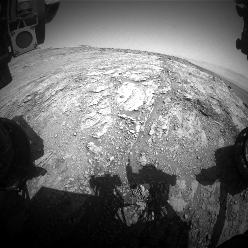 NASA's Mars rover Curiosity acquired this image using its Front Hazard Avoidance Cameras (Front Hazcams) on Sol 2493