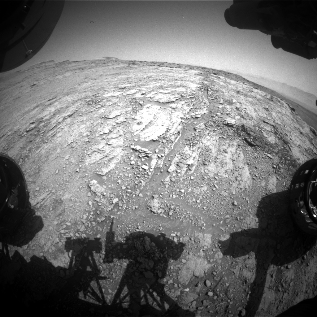 Nasa's Mars rover Curiosity acquired this image using its Front Hazard Avoidance Camera (Front Hazcam) on Sol 2498, at drive 3002, site number 76
