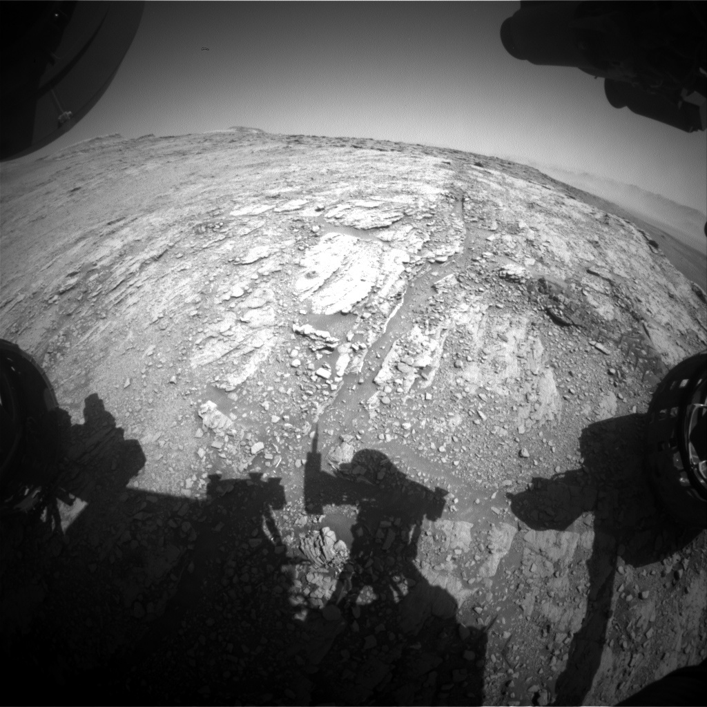 NASA's Mars rover Curiosity acquired this image using its Front Hazard Avoidance Cameras (Front Hazcams) on Sol 2501