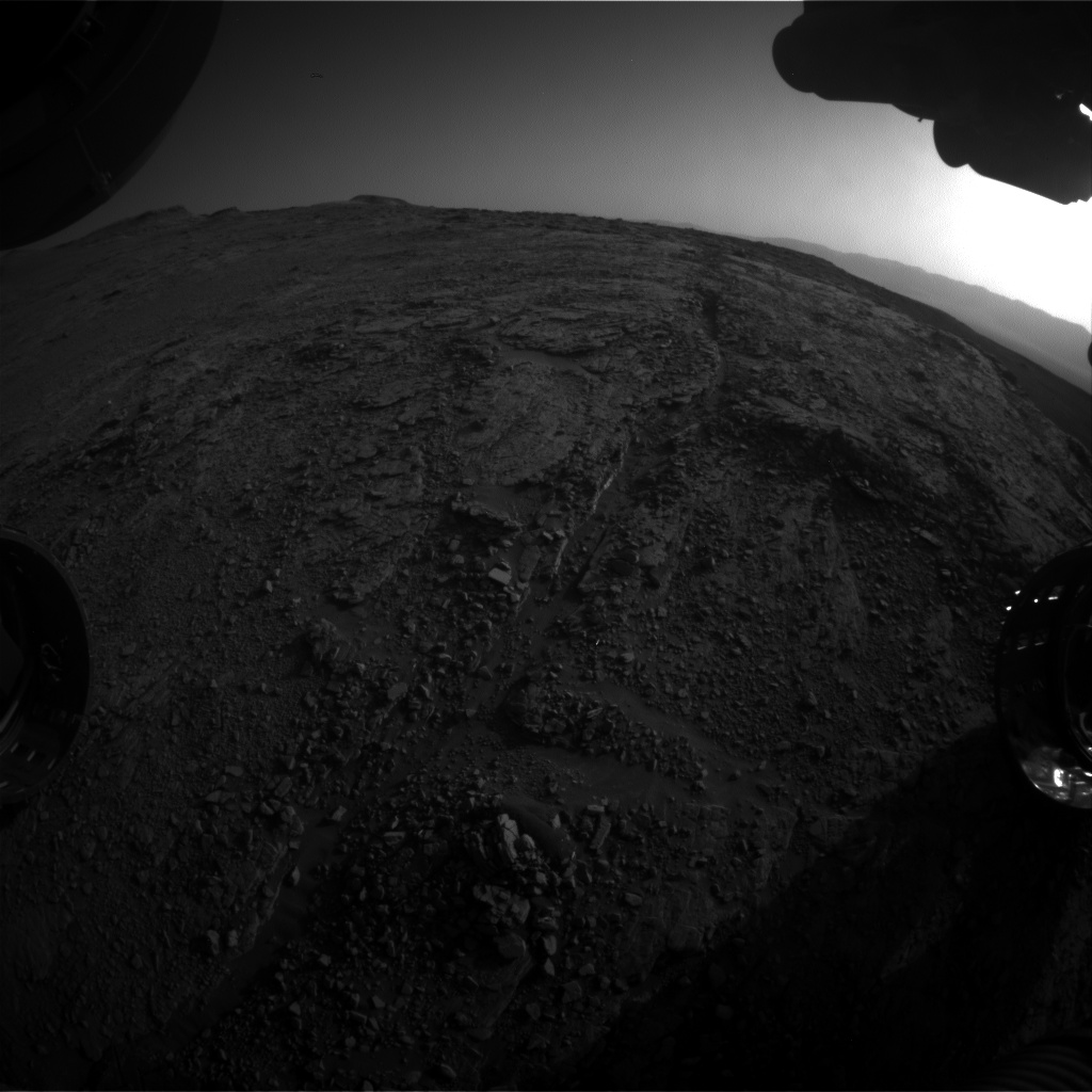 Nasa's Mars rover Curiosity acquired this image using its Front Hazard Avoidance Camera (Front Hazcam) on Sol 2502, at drive 3002, site number 76