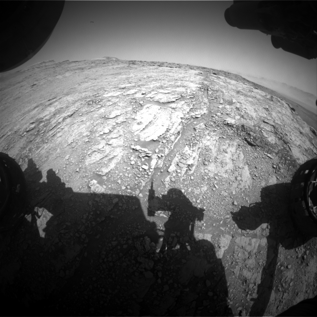 Nasa's Mars rover Curiosity acquired this image using its Front Hazard Avoidance Camera (Front Hazcam) on Sol 2506, at drive 3002, site number 76