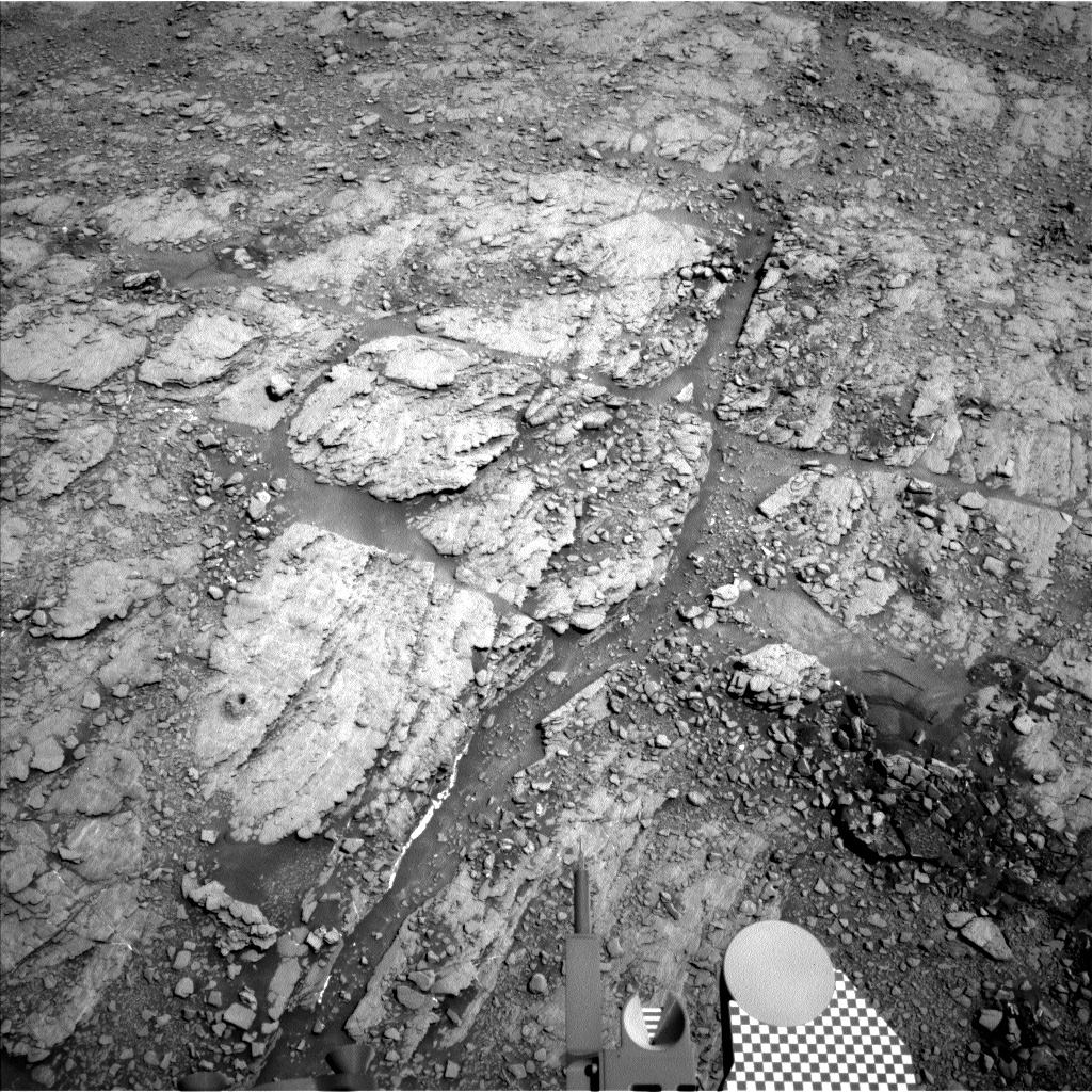 Nasa's Mars rover Curiosity acquired this image using its Left Navigation Camera on Sol 2511, at drive 3002, site number 76