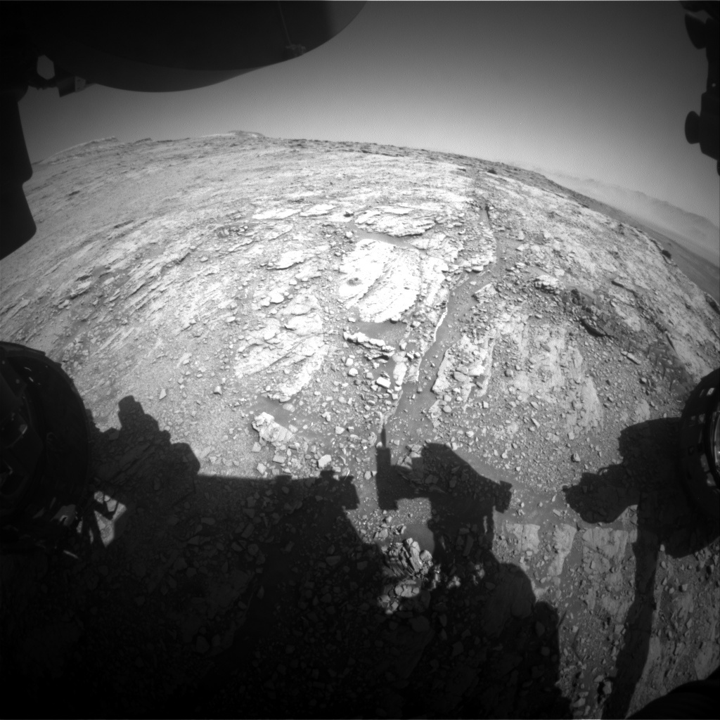 NASA's Mars rover Curiosity acquired this image using its Front Hazard Avoidance Cameras (Front Hazcams) on Sol 2522
