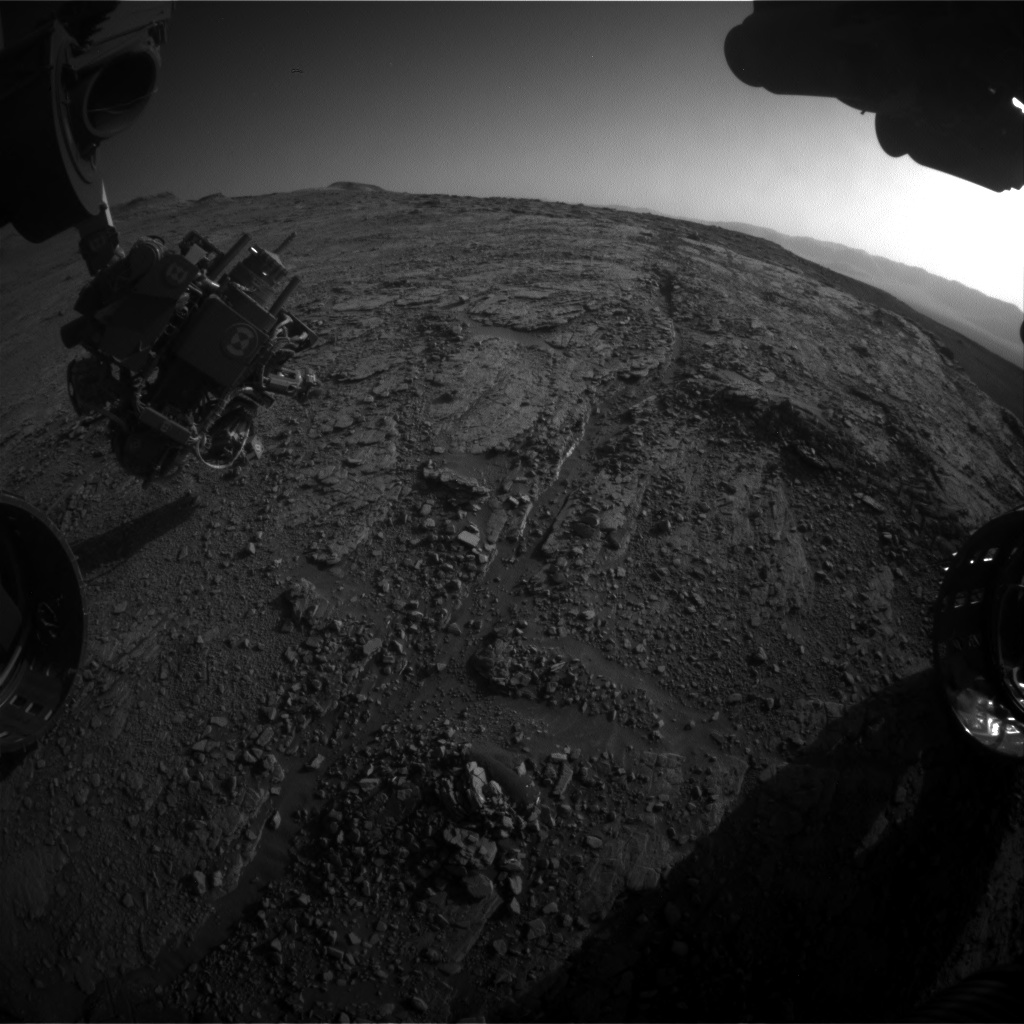 Nasa's Mars rover Curiosity acquired this image using its Front Hazard Avoidance Camera (Front Hazcam) on Sol 2524, at drive 3002, site number 76