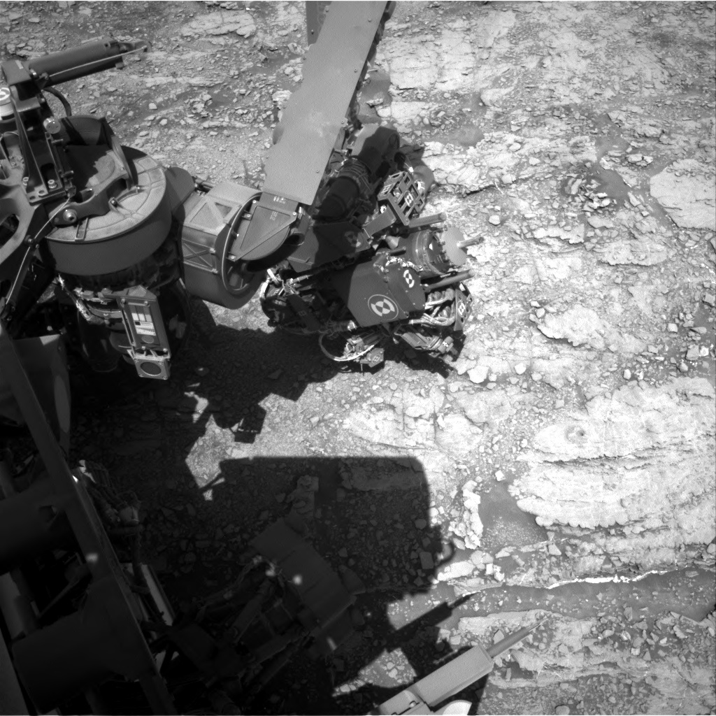 Nasa's Mars rover Curiosity acquired this image using its Right Navigation Camera on Sol 2526, at drive 3002, site number 76