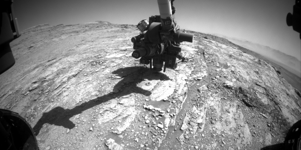 Nasa's Mars rover Curiosity acquired this image using its Front Hazard Avoidance Camera (Front Hazcam) on Sol 2527, at drive 3002, site number 76
