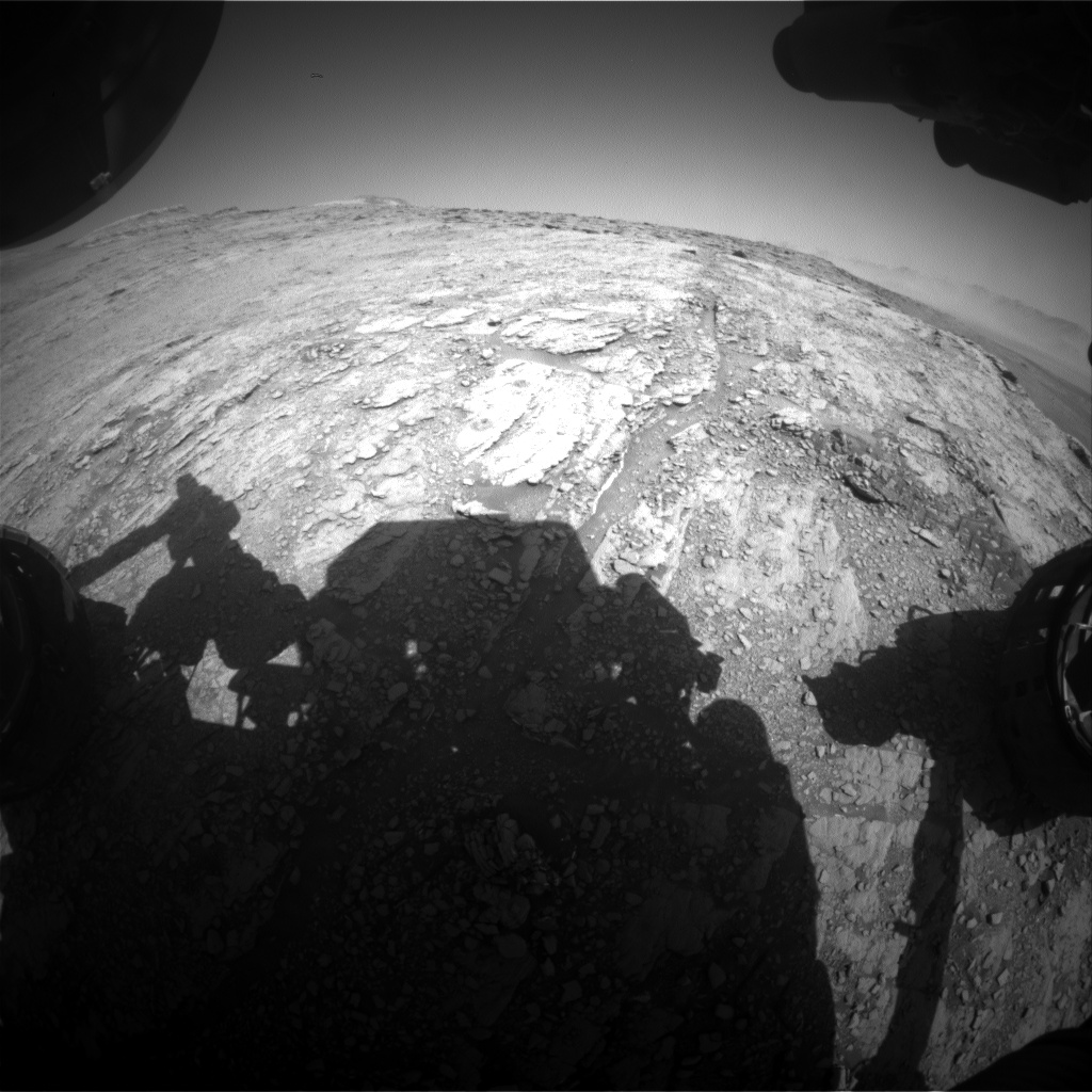 Nasa's Mars rover Curiosity acquired this image using its Front Hazard Avoidance Camera (Front Hazcam) on Sol 2532, at drive 3002, site number 76
