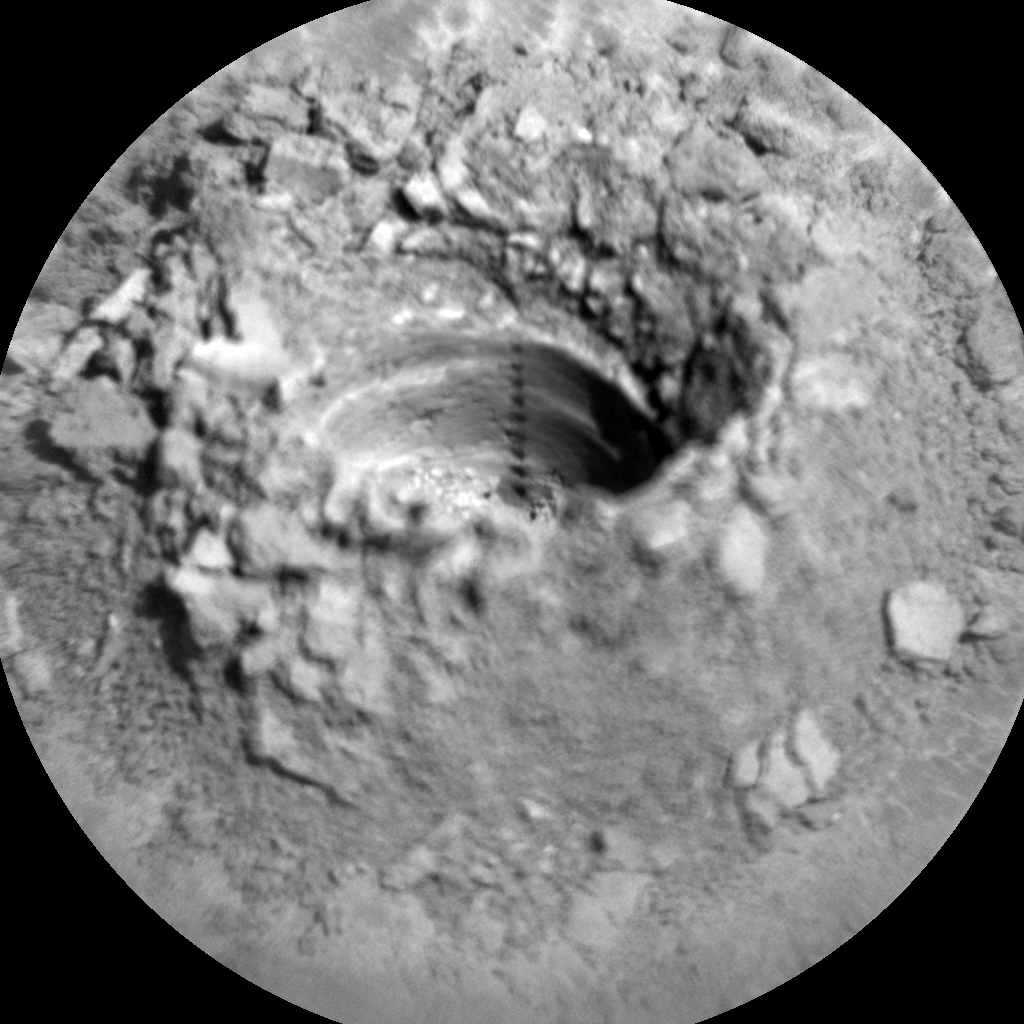 Nasa's Mars rover Curiosity acquired this image using its Chemistry & Camera (ChemCam) on Sol 2532, at drive 3002, site number 76