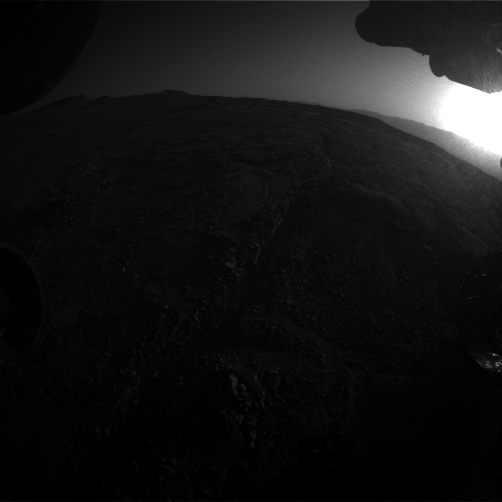 Nasa's Mars rover Curiosity acquired this image using its Front Hazard Avoidance Camera (Front Hazcam) on Sol 2535, at drive 3002, site number 76