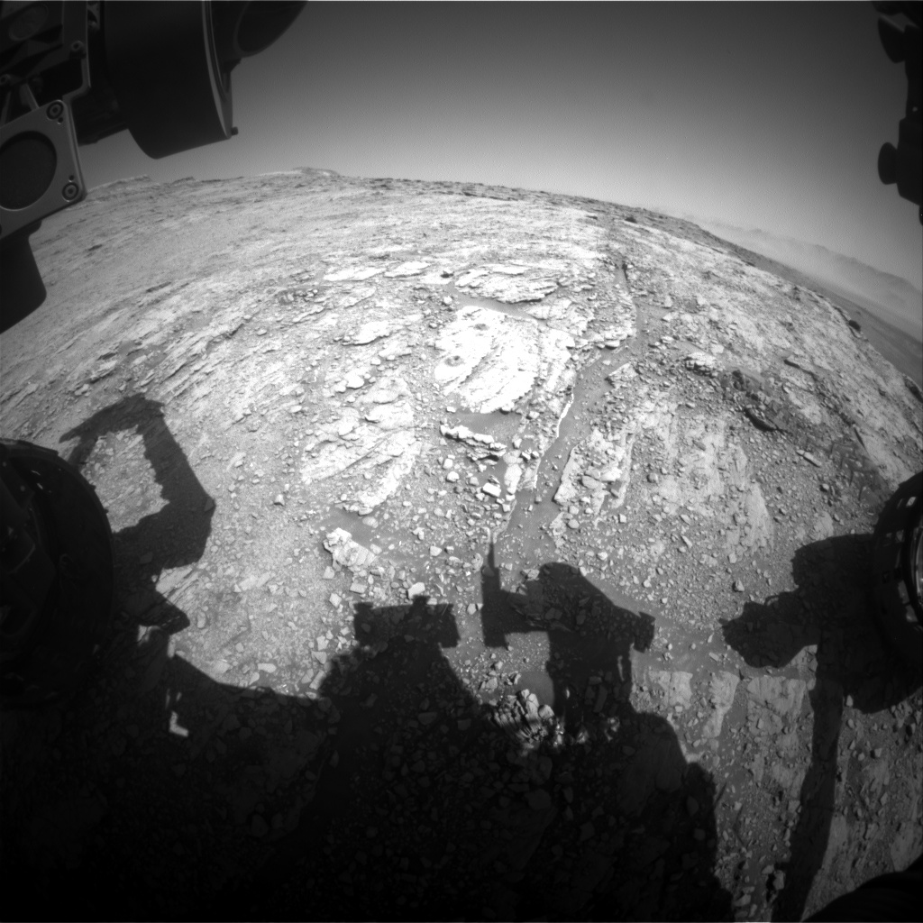 Nasa's Mars rover Curiosity acquired this image using its Front Hazard Avoidance Camera (Front Hazcam) on Sol 2537, at drive 3002, site number 76