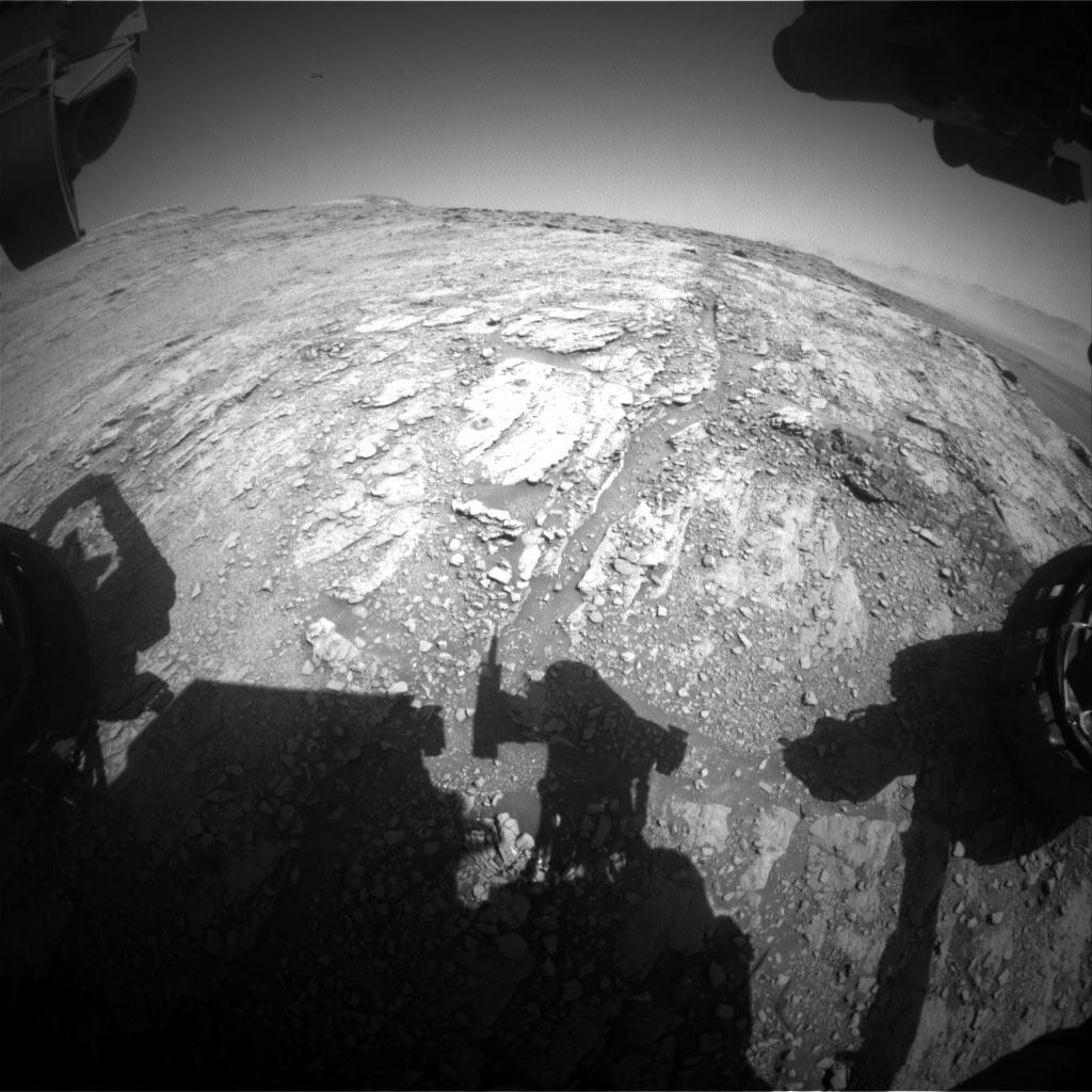 Nasa's Mars rover Curiosity acquired this image using its Front Hazard Avoidance Camera (Front Hazcam) on Sol 2539, at drive 3002, site number 76