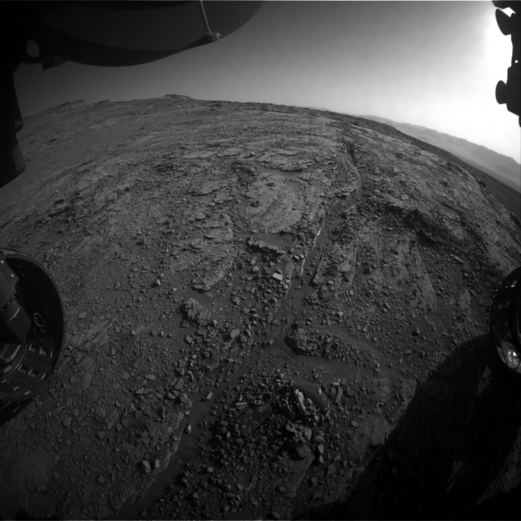Nasa's Mars rover Curiosity acquired this image using its Front Hazard Avoidance Camera (Front Hazcam) on Sol 2540, at drive 3002, site number 76