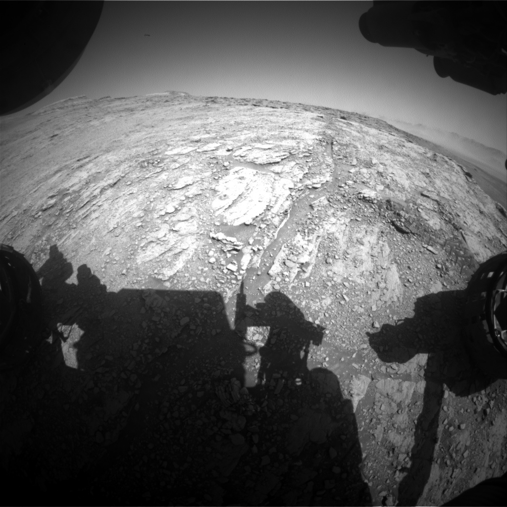Nasa's Mars rover Curiosity acquired this image using its Front Hazard Avoidance Camera (Front Hazcam) on Sol 2541, at drive 3002, site number 76