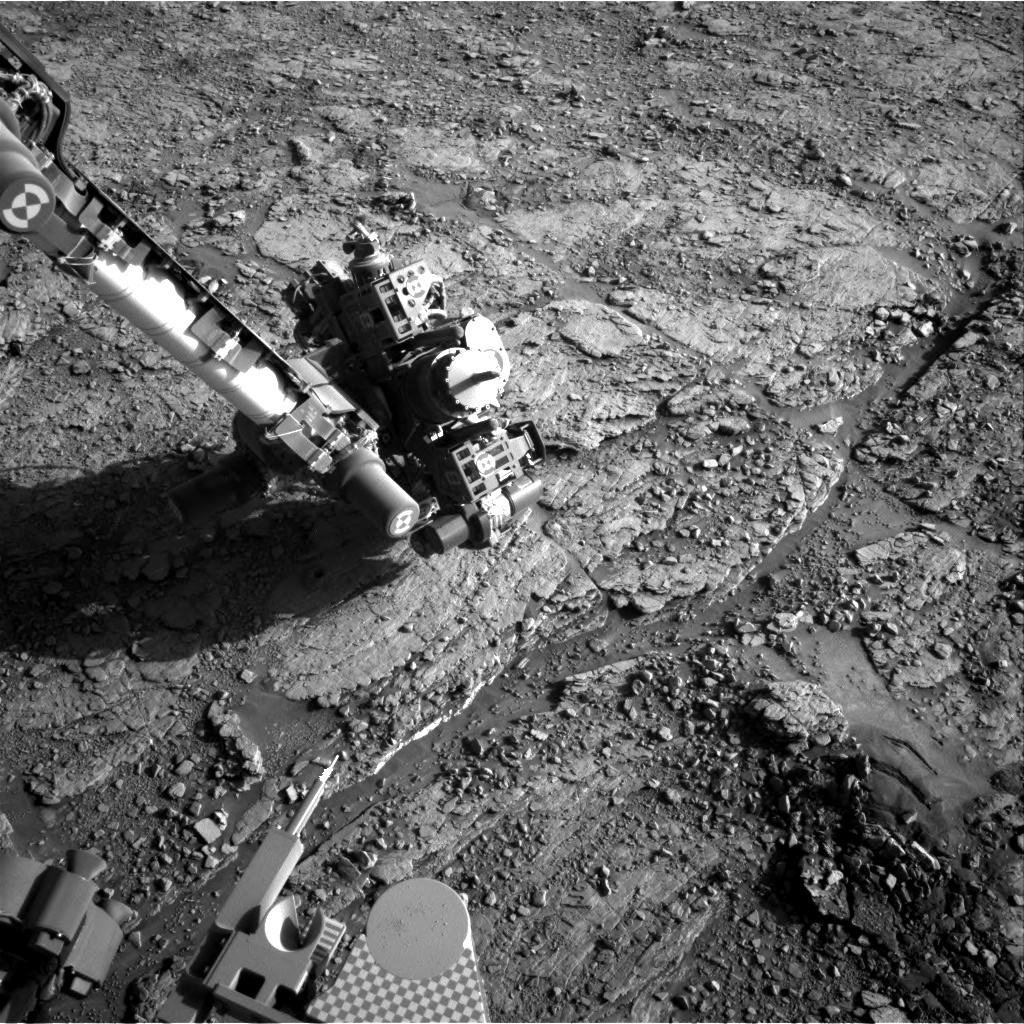 Nasa's Mars rover Curiosity acquired this image using its Right Navigation Camera on Sol 2553, at drive 3002, site number 76