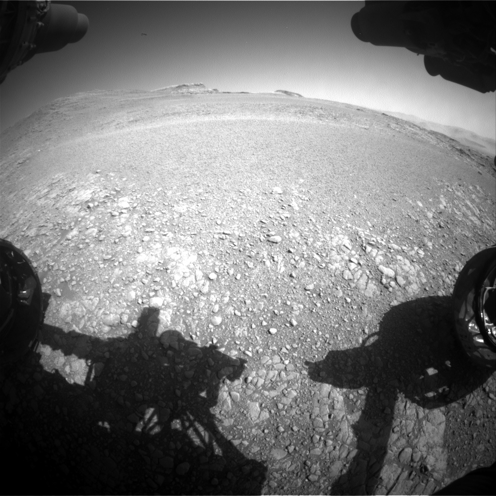 Nasa's Mars rover Curiosity acquired this image using its Front Hazard Avoidance Camera (Front Hazcam) on Sol 2555, at drive 0, site number 77