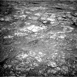 Nasa's Mars rover Curiosity acquired this image using its Left Navigation Camera on Sol 2555, at drive 3128, site number 76