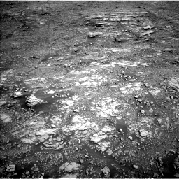 Nasa's Mars rover Curiosity acquired this image using its Left Navigation Camera on Sol 2555, at drive 3182, site number 76
