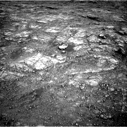 Nasa's Mars rover Curiosity acquired this image using its Right Navigation Camera on Sol 2555, at drive 3134, site number 76