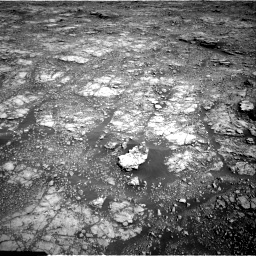 Nasa's Mars rover Curiosity acquired this image using its Right Navigation Camera on Sol 2555, at drive 3146, site number 76