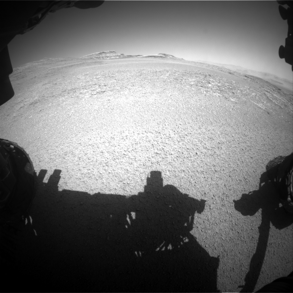 Nasa's Mars rover Curiosity acquired this image using its Front Hazard Avoidance Camera (Front Hazcam) on Sol 2556, at drive 26, site number 77