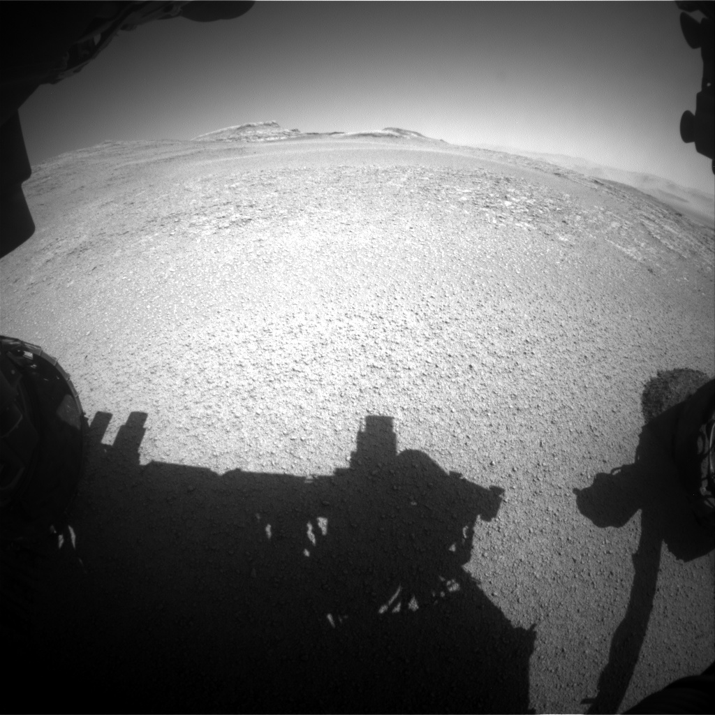 Nasa's Mars rover Curiosity acquired this image using its Front Hazard Avoidance Camera (Front Hazcam) on Sol 2556, at drive 34, site number 77
