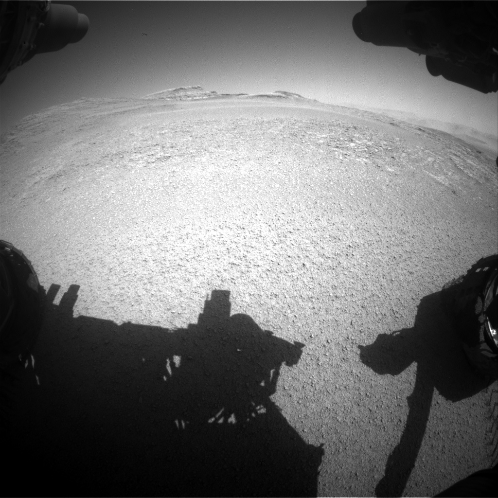 Nasa's Mars rover Curiosity acquired this image using its Front Hazard Avoidance Camera (Front Hazcam) on Sol 2556, at drive 22, site number 77