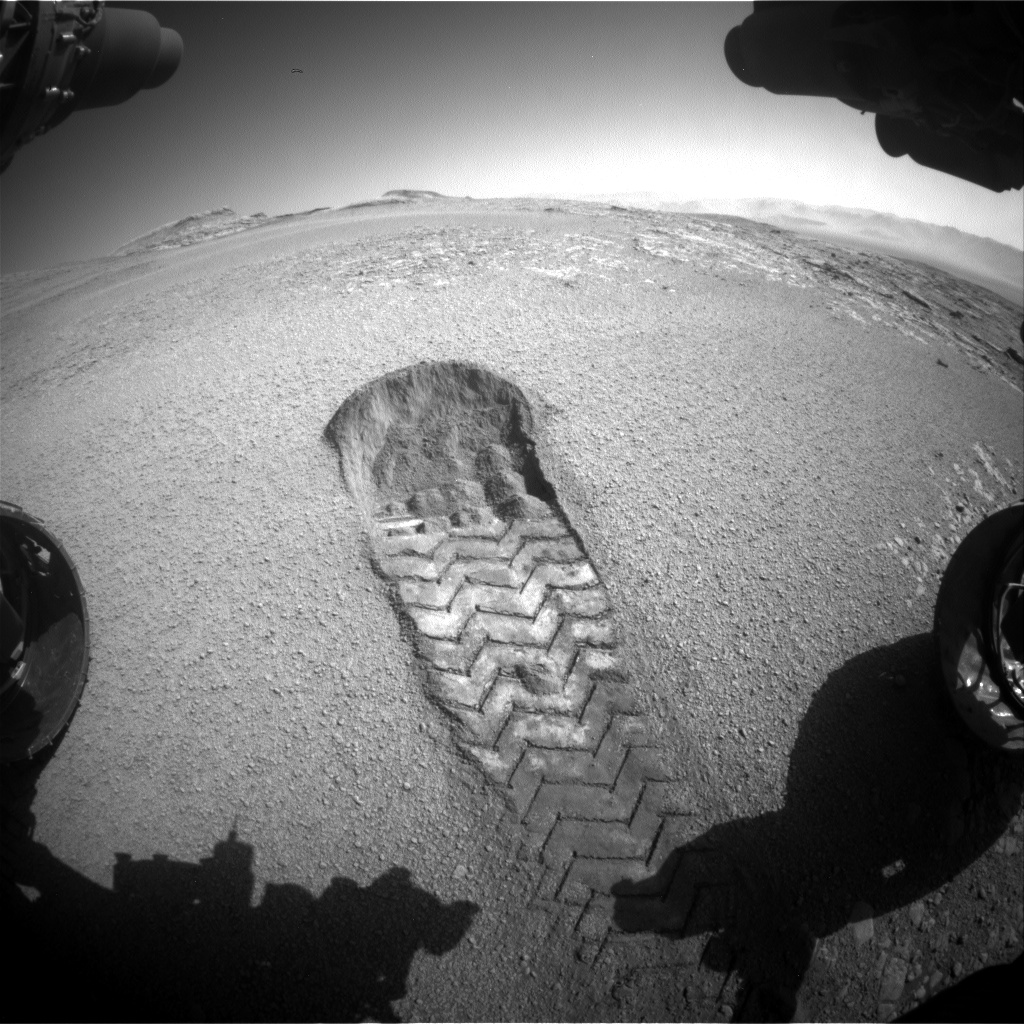 Nasa's Mars rover Curiosity acquired this image using its Front Hazard Avoidance Camera (Front Hazcam) on Sol 2556, at drive 70, site number 77