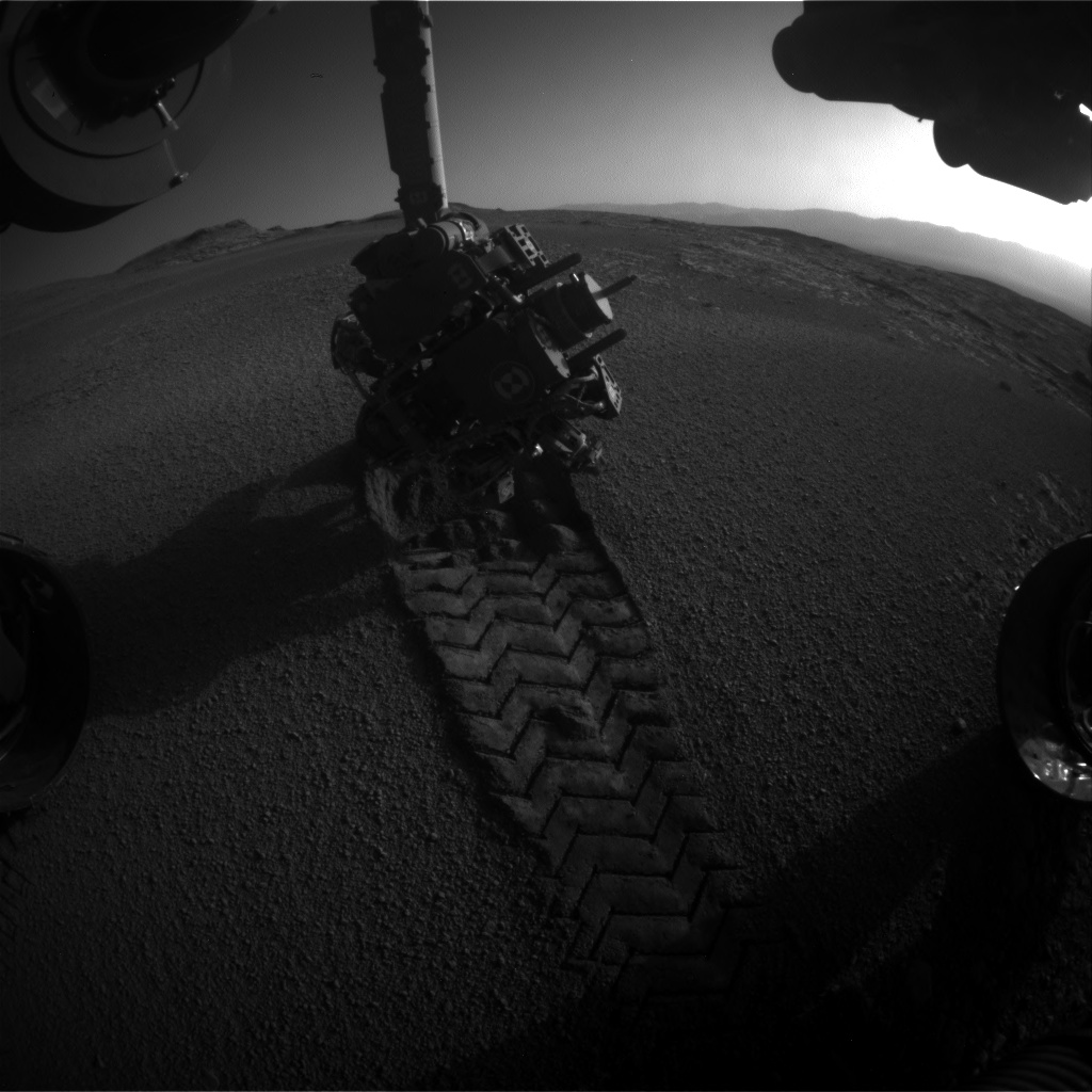Nasa's Mars rover Curiosity acquired this image using its Front Hazard Avoidance Camera (Front Hazcam) on Sol 2558, at drive 70, site number 77