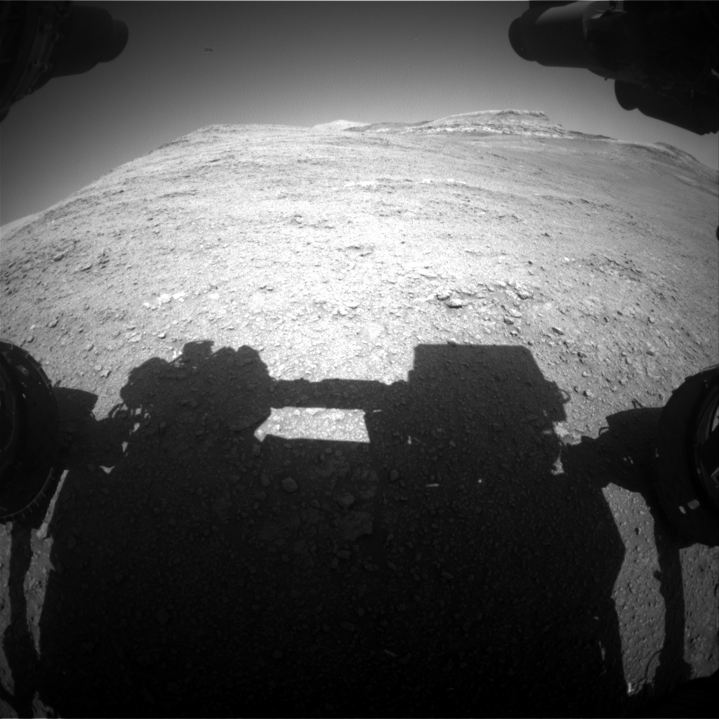 Nasa's Mars rover Curiosity acquired this image using its Front Hazard Avoidance Camera (Front Hazcam) on Sol 2561, at drive 292, site number 77