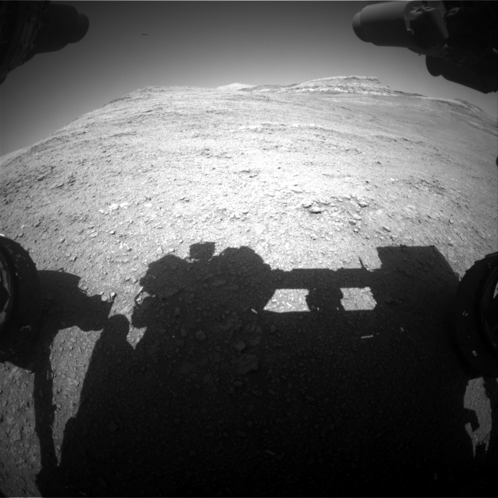 Nasa's Mars rover Curiosity acquired this image using its Front Hazard Avoidance Camera (Front Hazcam) on Sol 2562, at drive 292, site number 77