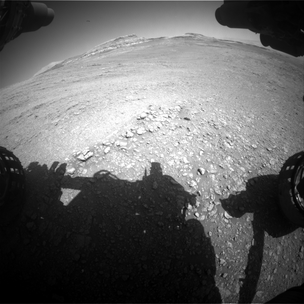 Nasa's Mars rover Curiosity acquired this image using its Front Hazard Avoidance Camera (Front Hazcam) on Sol 2563, at drive 328, site number 77