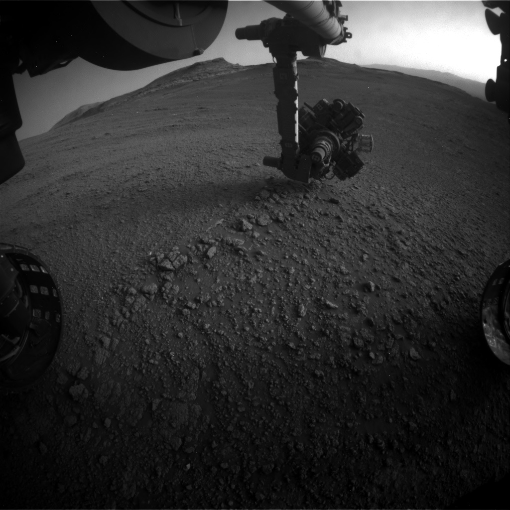 Nasa's Mars rover Curiosity acquired this image using its Front Hazard Avoidance Camera (Front Hazcam) on Sol 2564, at drive 328, site number 77