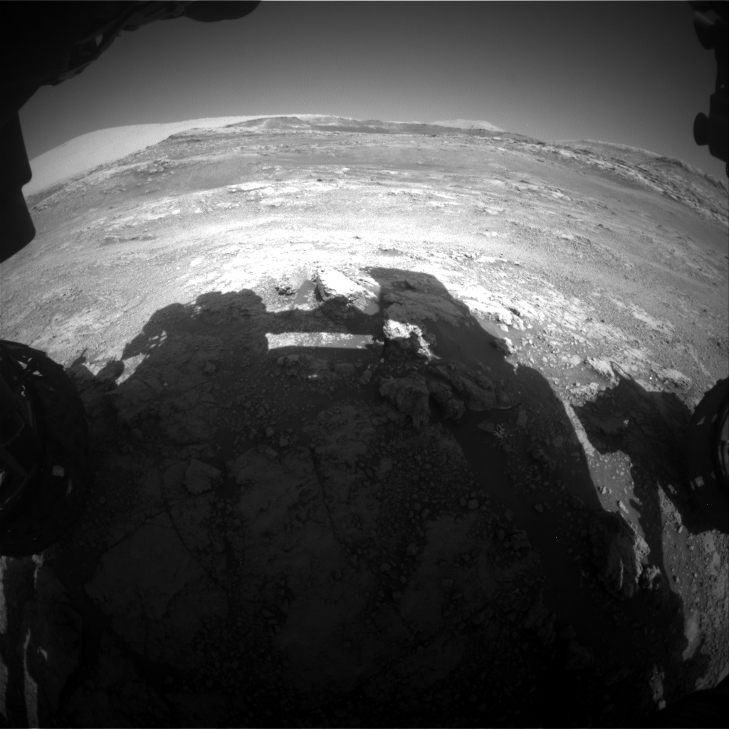 Nasa's Mars rover Curiosity acquired this image using its Front Hazard Avoidance Camera (Front Hazcam) on Sol 2565, at drive 574, site number 77