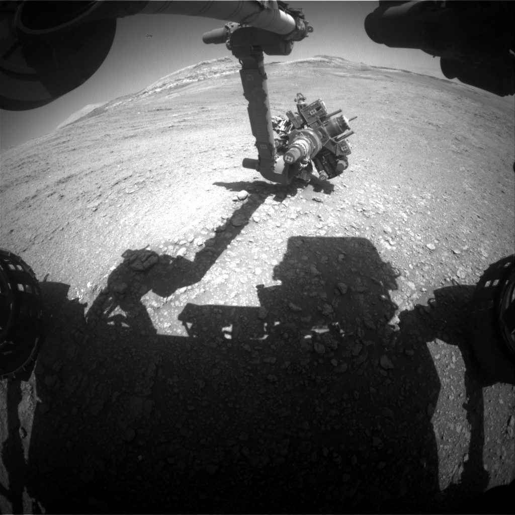 Nasa's Mars rover Curiosity acquired this image using its Front Hazard Avoidance Camera (Front Hazcam) on Sol 2565, at drive 328, site number 77