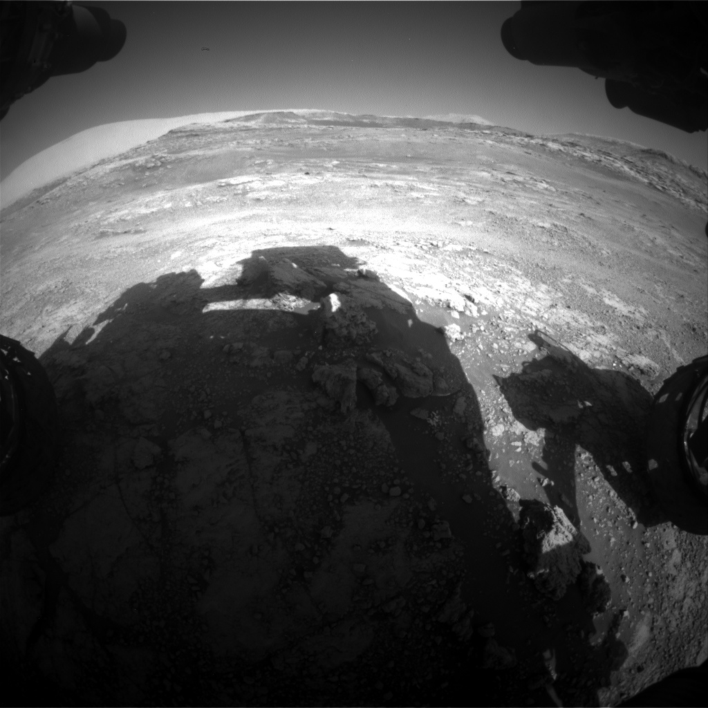 Nasa's Mars rover Curiosity acquired this image using its Front Hazard Avoidance Camera (Front Hazcam) on Sol 2566, at drive 574, site number 77