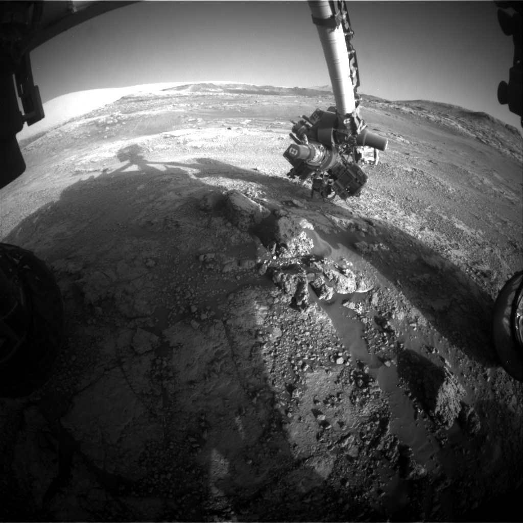 Nasa's Mars rover Curiosity acquired this image using its Front Hazard Avoidance Camera (Front Hazcam) on Sol 2567, at drive 574, site number 77
