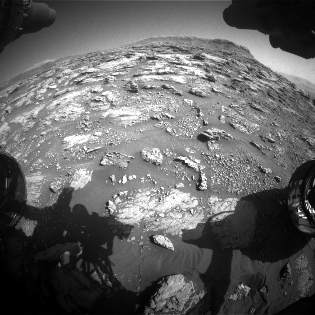 Nasa's Mars rover Curiosity acquired this image using its Front Hazard Avoidance Camera (Front Hazcam) on Sol 2570, at drive 964, site number 77