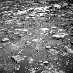 Nasa's Mars rover Curiosity acquired this image using its Right Navigation Camera on Sol 2570, at drive 910, site number 77